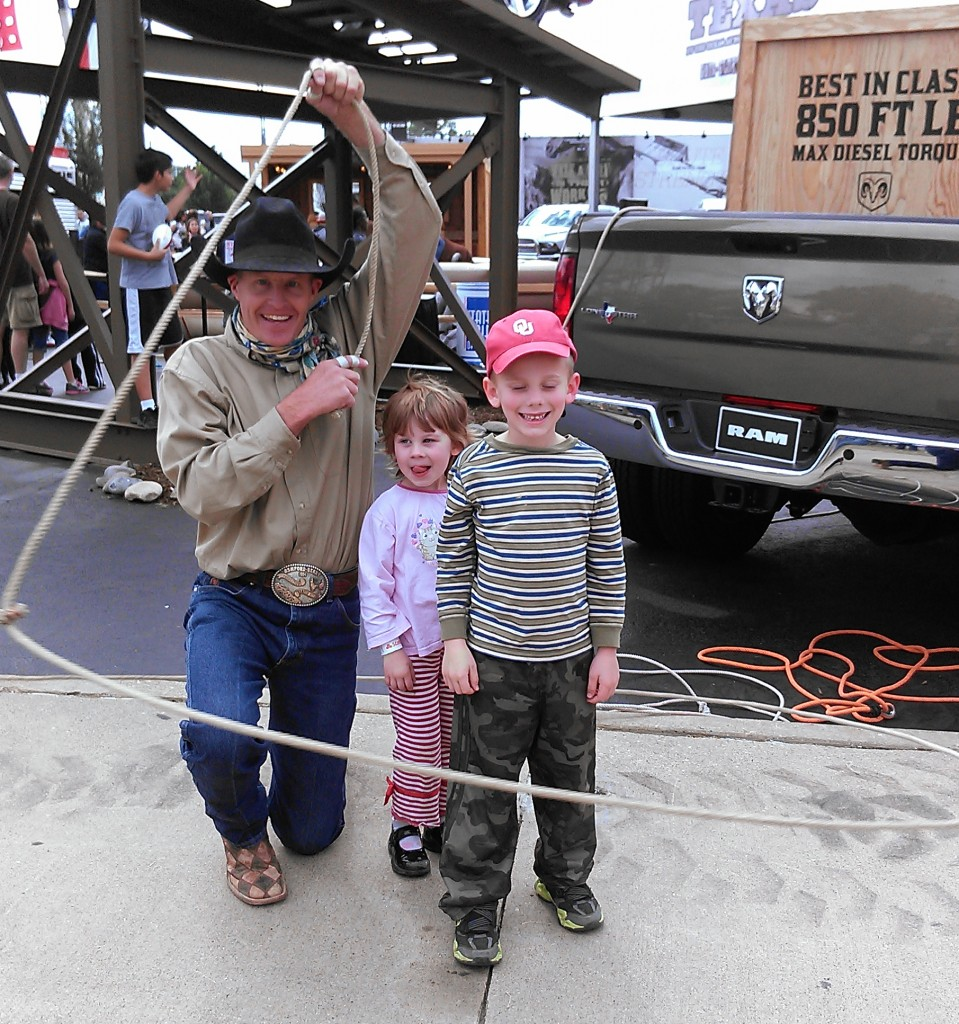 We happened upon a champion cowboy rope artist, and really enjoyed his tricks!