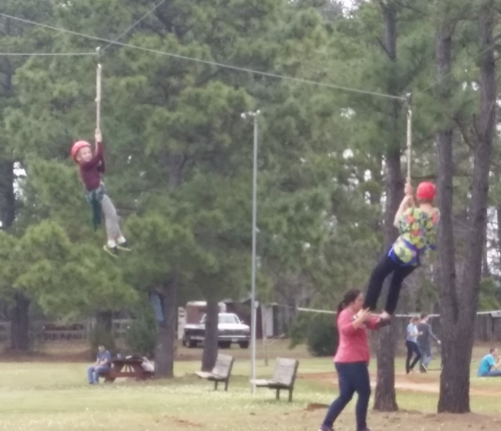 MJ and his Beffa did the zip-line together!!!